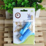A pair pet finger toothbrush in blistercard packing
