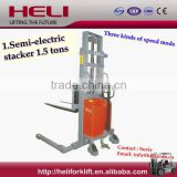 Inquiry About China Top1 Manufacturer Heli Brand 1.5 ton semi electric pallet stacker