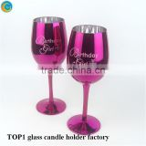 led candle Handcrafted Votive Festive Glass goblet Candle Stand