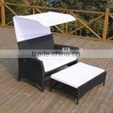 fancy outdoor rattan daybed with cushion