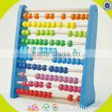 Wholesale colorful kids wooden abacus toys most popular baby educational wooden abacus toy W12A012