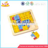 Wholesale brain training wooden kids animal puzzle game cheap baby wooden kids animal puzzle W14C067