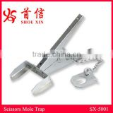 Hot sale scissors gopher trap galvanized steel mole trap use in garden/lawns/outdoors SX-5001