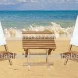 Outdoor furniture wooden beach table and chair