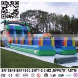 2016 inflatable plam tree water slide, plam tree inflatable double lane,water slide for inflatable water games