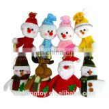 low price wholesale plush toy christmas snowman with scarf for gifts