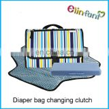 Changing Clutch with Changing Pad for Baby Infants and Toddlers Nursery Travel