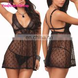 China Black Lace Mature Fat Women Sexy Underwear Babydoll Lingerie