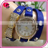 2014 New products Vintage Genuine Leather Multilayer quartz Watch Yiwu Supplier