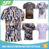 Customized Logo Heat Transfer Sublimation Tshirt with Multi Color Plus Size