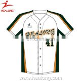 100% polyester 2014 top quality full button up custom dye sublimation infant baseball jersey