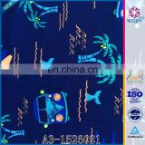 Navy Knit Fashion Soft Custom Nylon Fabric Print