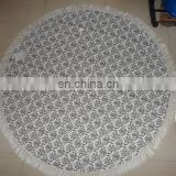 printing mandala round cotton towel pareo