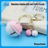 DIY hit the bell key ring Creative bells Ladies bag pendant Anti - theft car key ring pendant