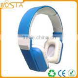 High end good quality best stereo wholesale promotional white and blue mixed colors headphones