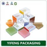 Customized soap packaging box / soap box packaging / bar soap box mini folding box