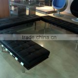 Replica Top quality solid wood frame Ludwing Mies Van der Rohe Barcelona bench with stainless legs