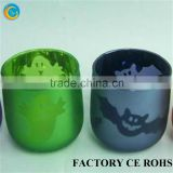 Eco-friendly glass material sprayed animal glass tealight/candle holder 100% product quality protection