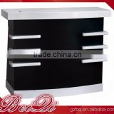 Beiqi Reception Desk Counter Stand White & Black Commercial Furniture Used Checkout Counters for Sale