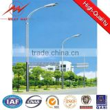 High quality street lighting pole led solar park lamp post ,outside hinged single arm park lamp post