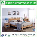 latest factory directly sale plywood double bed designs