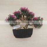 outdoor bonsai rose blossom tree,Plastic potted minidecorative artificial bonsai