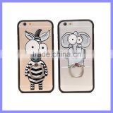 Cheap Cute Elephant Zebra Animal Shaped Phone Cases For iPhone 6S Plus TPU Case With Ring Holder
