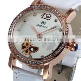 Fashion Butterfly Leather Watch Bracelet For Women Mechanical Lady Wristwatch White Strap LD135