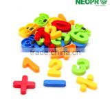 Eco-friendly magnetic alphabet plastic learning toy alphabet letters