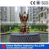 angel bronze fountain for garden decoration