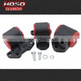 Hoso Racing Aluminum Motor Mount Kit 3 bolt left Mount For Honda CIVIC 92-95 DC2 EG INTEGRA 94-01 Motor Swap Mounts Kit
