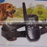 Hot selling rechargeable electric dog shock collar 300m Remote control dog training collar with LCD display one to one
