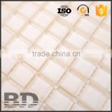 Parquet China Shanghai supplier Size tolearance 1mm backsplash decorative metal mix glass mosaic tile