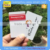 Inkjet printable lamination CR80 plastic pvc ID card/ blank rfid smart card for epson printer