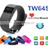 Brand New TW64S Heart Rate Monitor Bluetooth Watch Fitness Band Activity Tracker Smart Bracelet