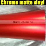 Best Quality 1.52x20m Car Vinyl Sticker Roll Matte Chrome Red Vinyl Wrap
