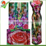 S073 New Arrival Silk Fabric Embroidered Floral Lace Fabric For Making Dress With Stones