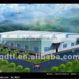 modular arch style steel prefabricated warehouse building