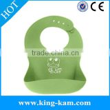 manufacturer Silicone Crumber Catcher , Waterproof Blank Baby Bib Cute Unisex Colors for Boys or Girls Siliocne bib waterproof b