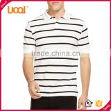Men's short sleeve polo shirts OEM branded mens cotton polo shirt classic collar men striped polo T shirt
