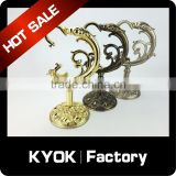 KYOK Rod Rail Support Bracket For Curtain - Black 19mm,Curtain Decor Accessories 0.5mm Curtain Rods