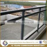 Top grade interior/exterior stair frameless balcony glass railing for building fence                                                                         Quality Choice