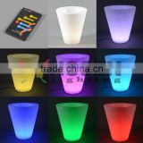 factory for sale led light flower pot for Christmas decoration led Small round flowerpot