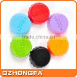 Colorful Reusable Beer Saver Silicone Wine Bottle Cap