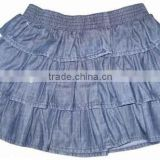 High quality kids fashion jeans skirts girl mini-skirts jeans girls elastic waistband short skirts