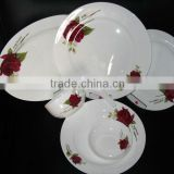 export A grade rose decoration royal fine bone china plate