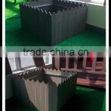 Colourful and insect-proof building material, yuante wood plastic composite/wpc flower box
