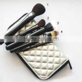 makeup brush set 5 pieces goat hair makeup tool kits long handle make up brush set with makeup bag