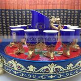 Factory Direct Sales!!!12 Zodiac Animals Blue Ceramic Wine Cups Set For Wedding Gift