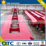 heavy duty machines 4 axle detachable low deck wheel low plate form semi traler low loader trailer for sale